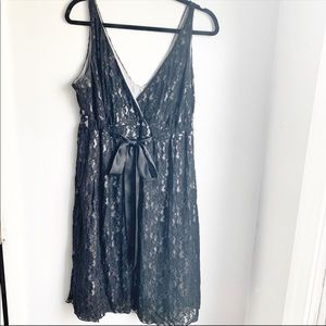 New York and Company Black Lace Dress Size 12